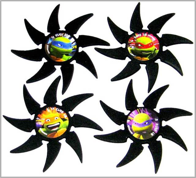 Ninja Turtle Foam Stars - 4 count