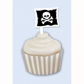 Pirate Cupcake Wrappers & Picks