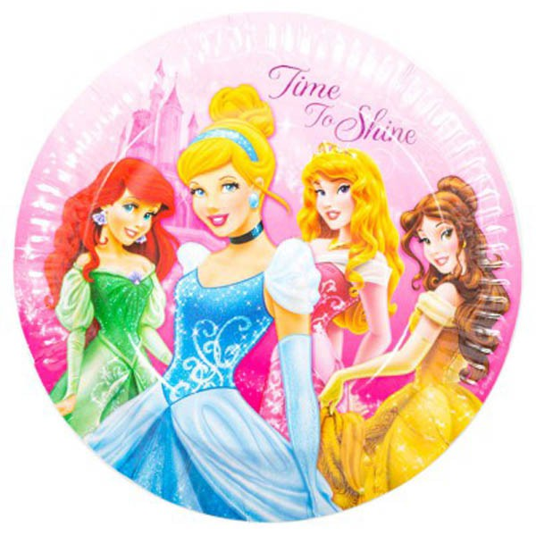 Disney Princess Plates - 8 Pack