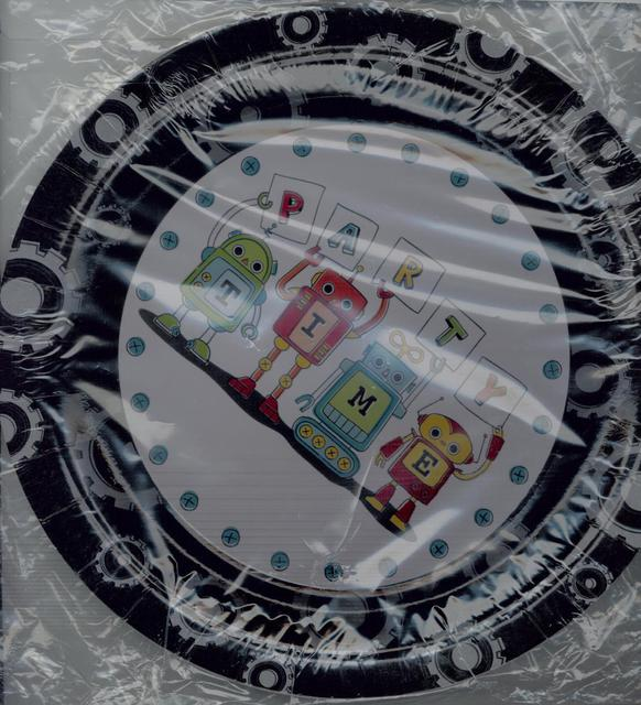 Robot Party Plates