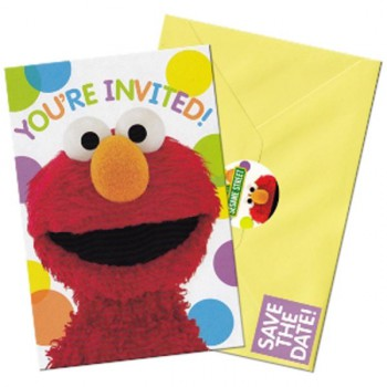 Elmo Party Invitations - 8 Pack