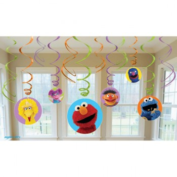 Sesame Street Hanging Swirl Decorations