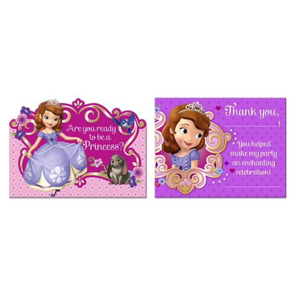 Sofia the First Invites & Thank You