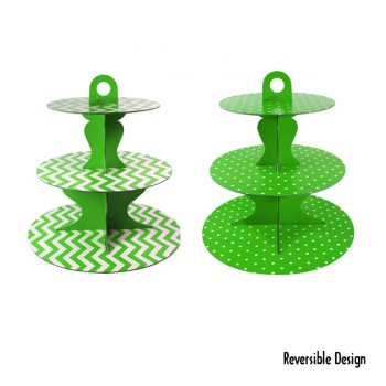 Cupcake Stand - Green Reversible