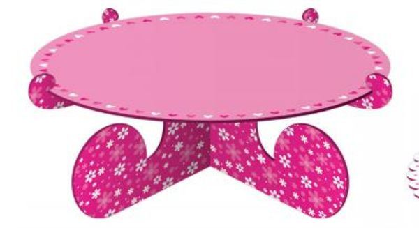 Cake Stand - Pink Heart