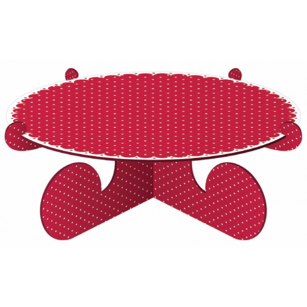 Cake Stand - Red Dot