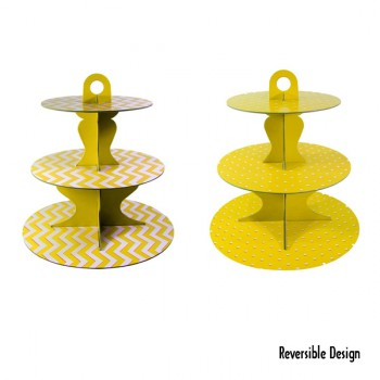 Cupcake Stand - Yellow Reversible