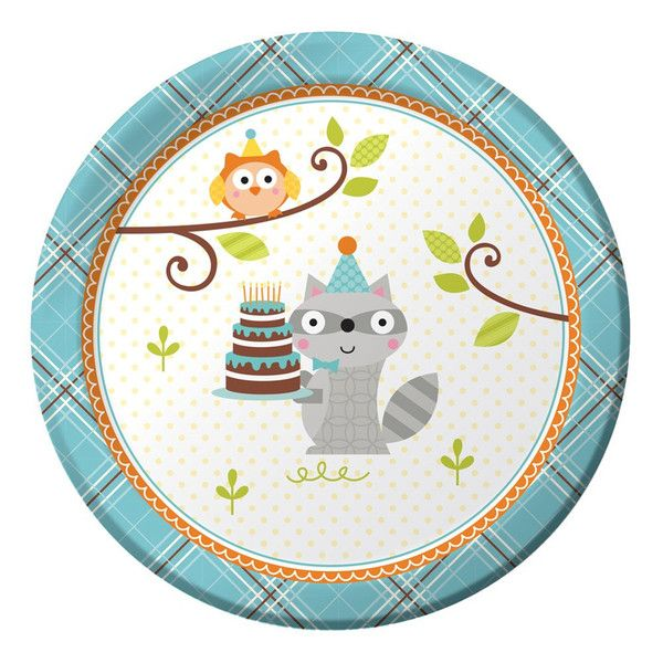 Happi Woodland Plates - Blue