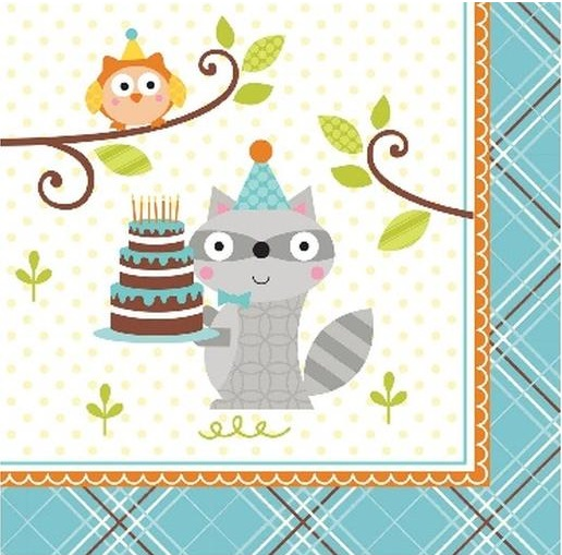 Happi Woodland Napkins - Blue