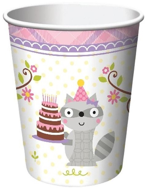 Happi Woodland Cups - Pink